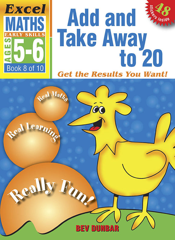 Excel Early Skills Maths Book 8: Add and Take Away to 20 Ages 5-6 9781877085956