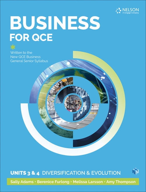 Business for QCE: Units 3 & 4: Diversification and Growth Student Book with 1 Access Code for 26 Months 9780170418492