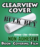Clearview Cover Non-adhesive Book Covering Plastic 6-pack
