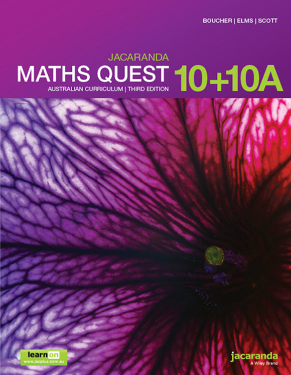 Jacaranda Maths Quest 10 for the AC 3rd Ed LearnON & Print 9780730346395