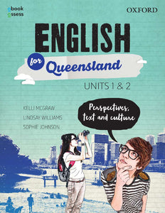 English for Queensland Units 1 & 2 Student book + obook assess 9780190313098