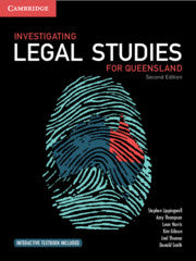 Investigating Legal Studies for Queensland 2nd Ed 9781108469500