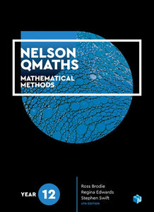Nelson QMaths 12 Mathematics Methods Student Book + 4 Access Codes 9780170412926
