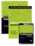 New Senior Mathematics Advanced Years 11 & 12 Student Book, eBook and Student Worked Solutions Book 9781488665981