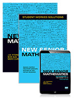 New Senior Mathematics Extension 1 Years 11 & 12 Student Book, eBook and Student Worked Solutions Book 9781488665998