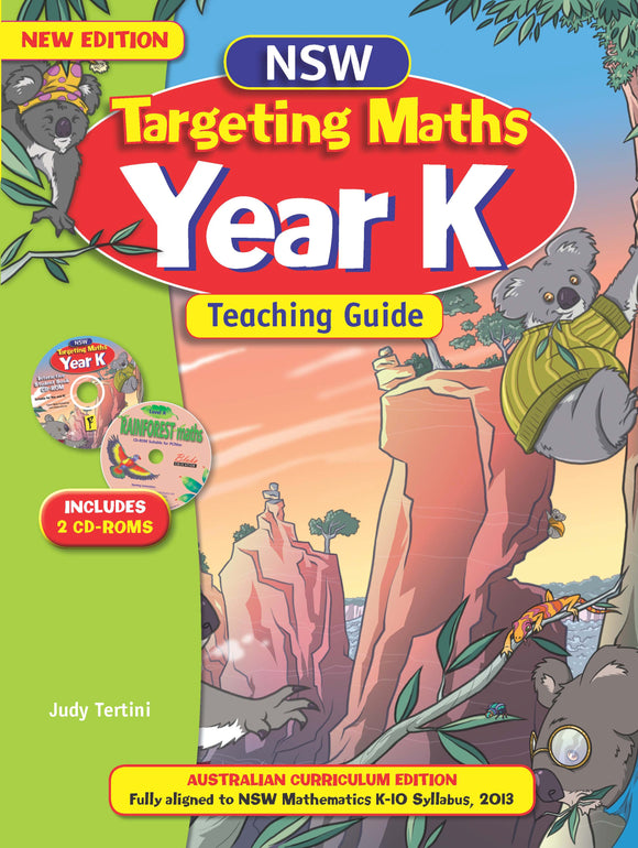 NSW Targeting Maths Australian Curriculum Teaching Guide Year K 9781742151410