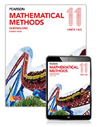 Pearson Mathematical Methods Queensland 11 Student Book with eBook 9781488621413