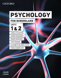 Psychology for Queensland Units 1 & 2 Student book + obook assess 9780190313296