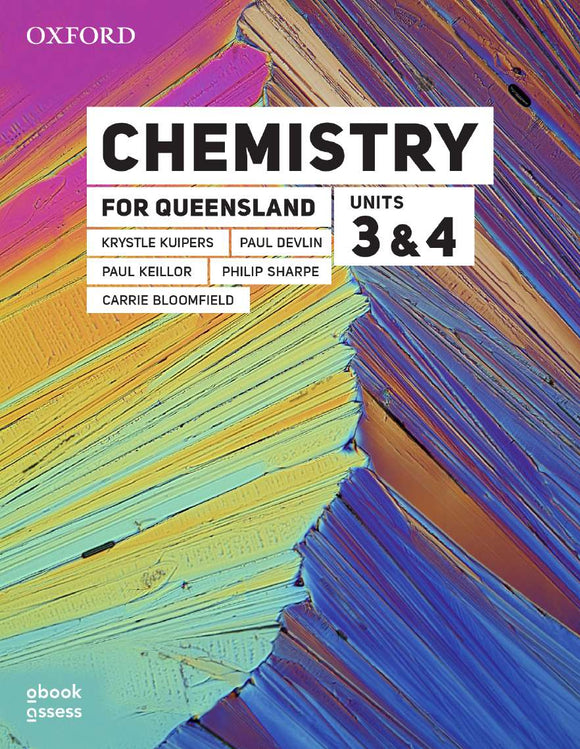 Chemistry for Queensland Units 3 & 4 Student book + obook assess 9780190313449