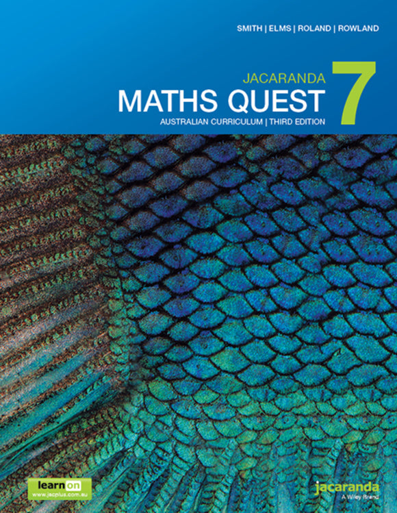 Jacaranda Maths Quest 7 Australian Curriculum 3e LearnON & Print 9780730346722