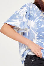 Load image into Gallery viewer, Mckenzie Blue Tie Dye Top - Youth
