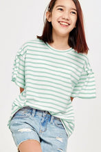 Load image into Gallery viewer, Tessa Striped Top - Youth