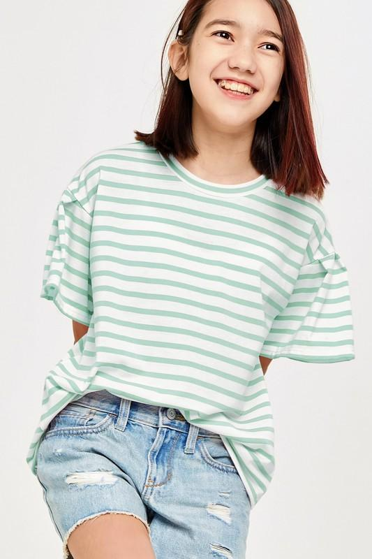 Tessa Striped Top - Youth