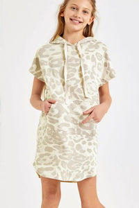 Lexie Leopard Hooded Dress - Youth