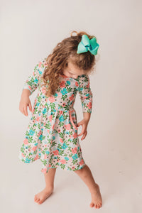 Parks + Price Dancing Flowers Swing Dress