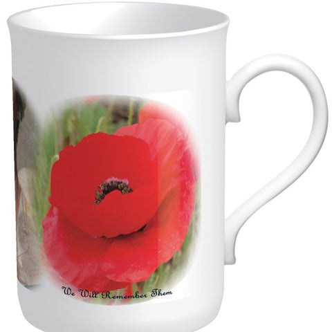 "Limited Edition ""We Will Remember Them"" China Poppy Mug"