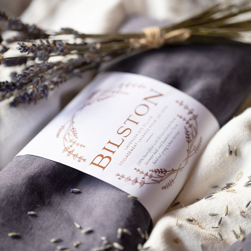 My Hand In Yours Calming Lavender Eye Pillow by Bilston Creek Lavender Farm for Relaxation