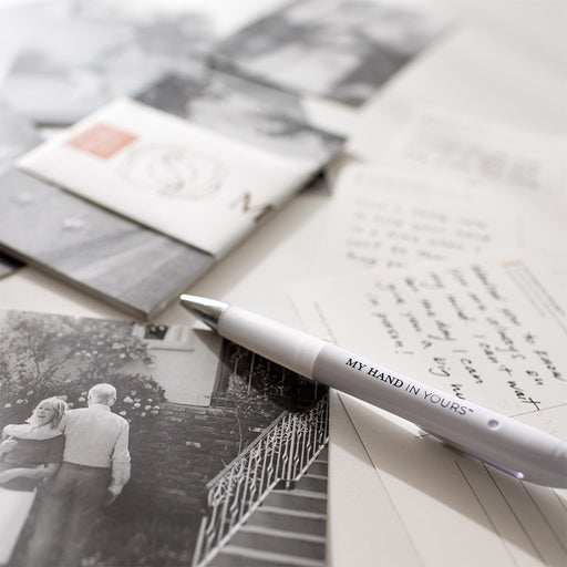 The My Hand In Yours™ Branded Pen with the MHIY Connection Postcard set - Photos provided by Erica Chan Photography - Exclusively for My Hand In Yours