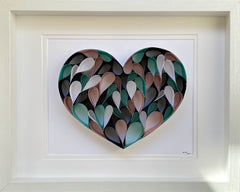 Arts & Crafts - Abstract Quilling Wall Art Of Heart- Reflection Series