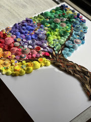 Arts & Crafts - Abstract Tree Of Life Quilled Wall Art