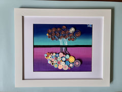 Quilling_art - Framed Quilled Wall Art - Acrylic Painting - ORIGINAL - Titled:Shadows