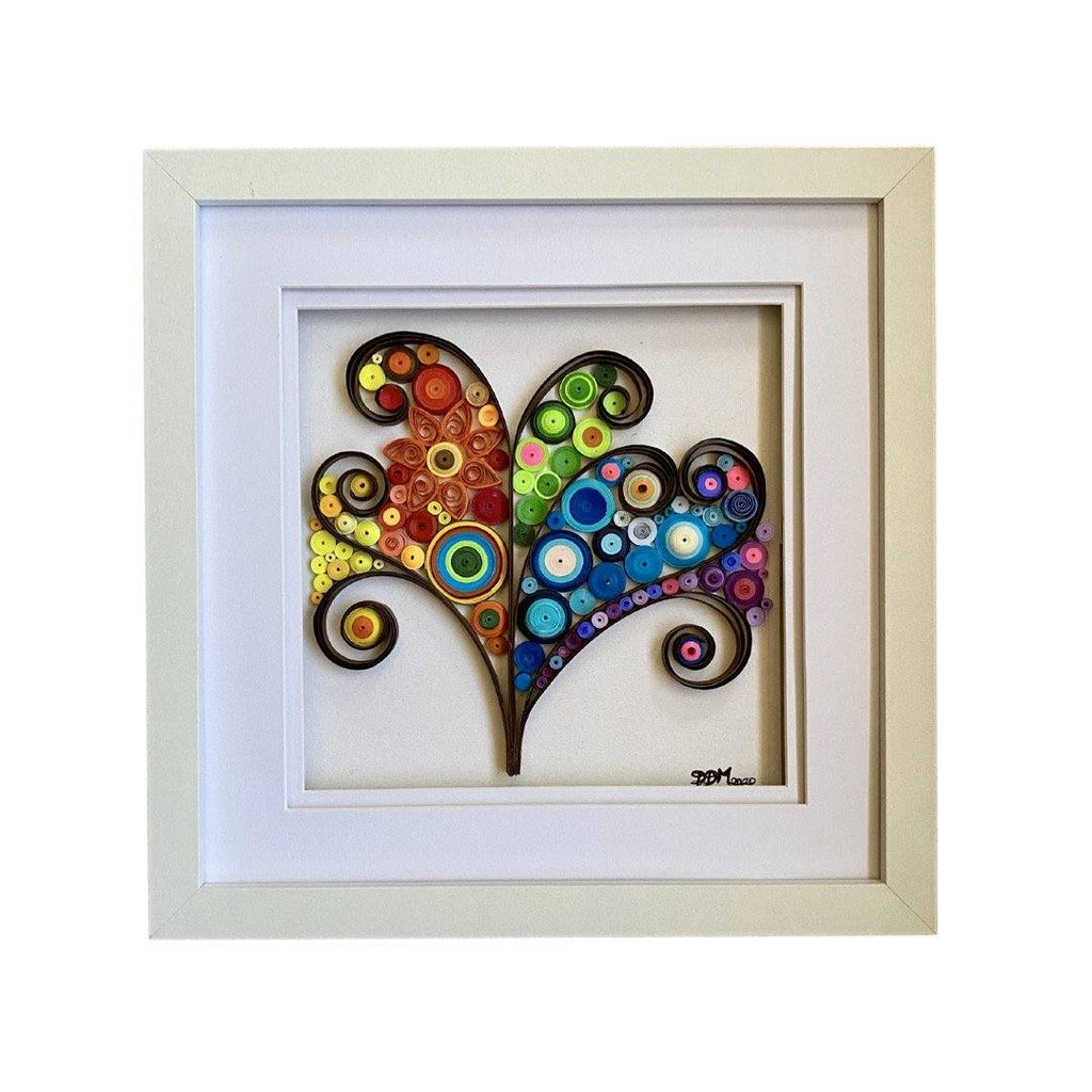Quilling_art - Framed Quilling Wall Art Tree Of Life Quilling Wall Art