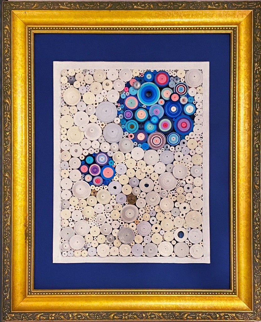 "Quilling_art - Quilled Abstract Wall Art- Original -  Abstract Mix Media Art 11""x14"" Inch"
