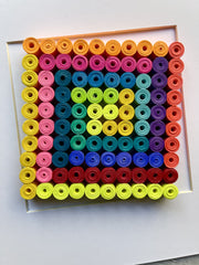 "Quilling Wall Art - Abstract Geometric Quilling Paper Art - ""The Square"""