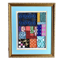 Quilling Wall Art - Antique Gold Framed Quilling Quilt Wall Art