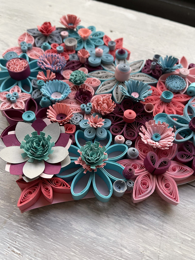 Quilling Wall Art - Quilling Floral Heart