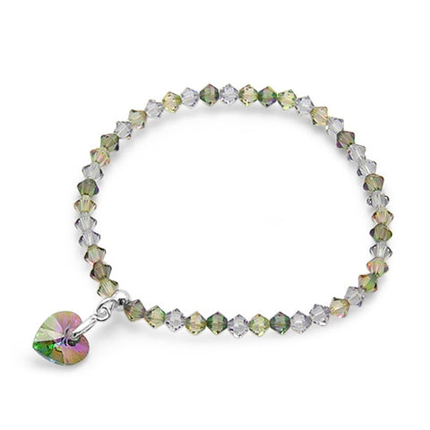 Love 2 U Crystal Heart Bracelet
