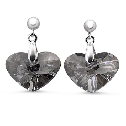 Crazy 4 U Heart Stud Earrings