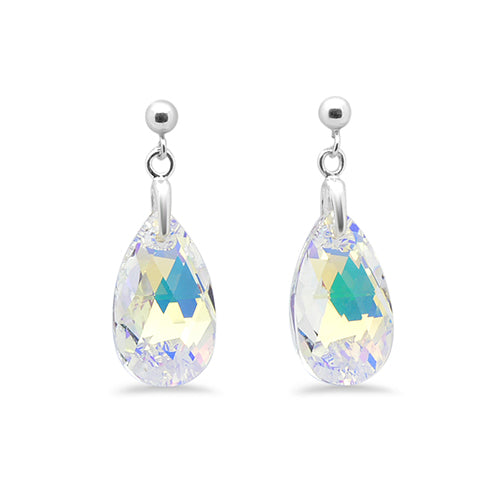 Pear Drop Crystal Stud Earrings