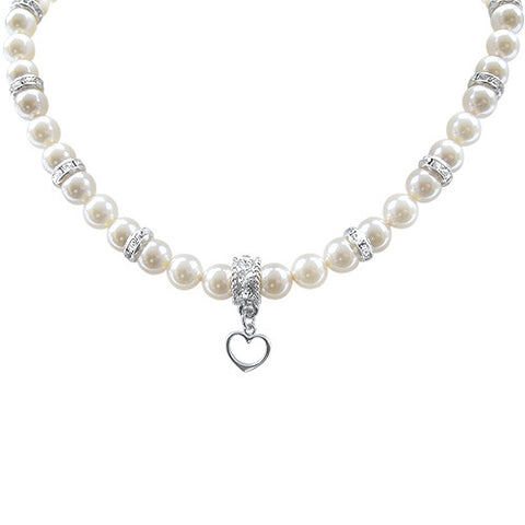 Romance Crystal Pearl Necklace