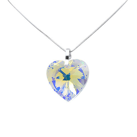 Love 2 U Crystal Heart Pendant