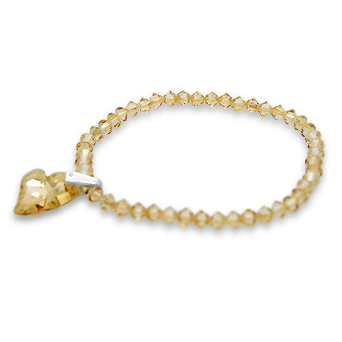 Devoted 2 U Crystal Heart Bracelet