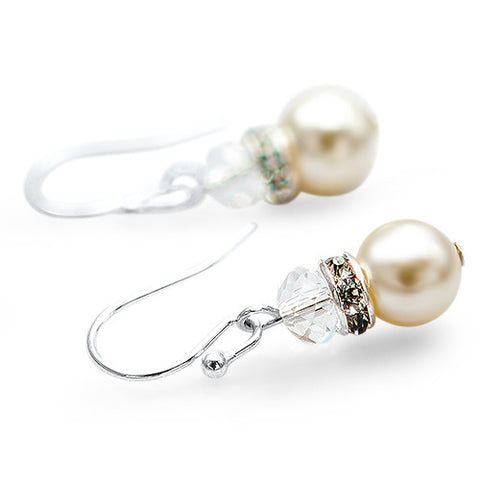 Pearl & Crystal Drop Earrings