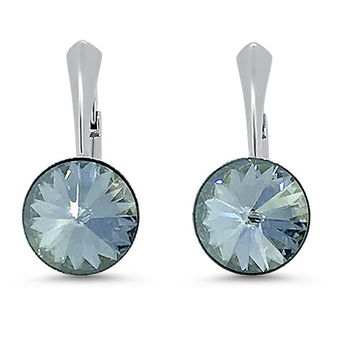 Rivoli Chaton Crystal Leverback Earrings