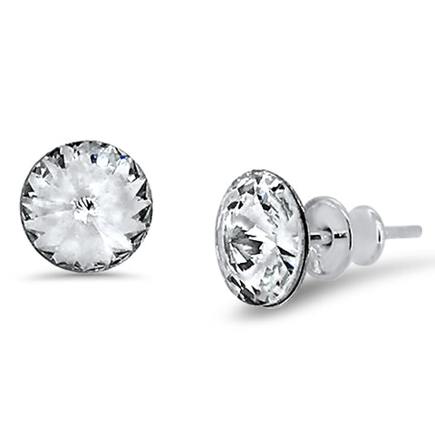 Rivoli Chaton Crystal Stud Earrings