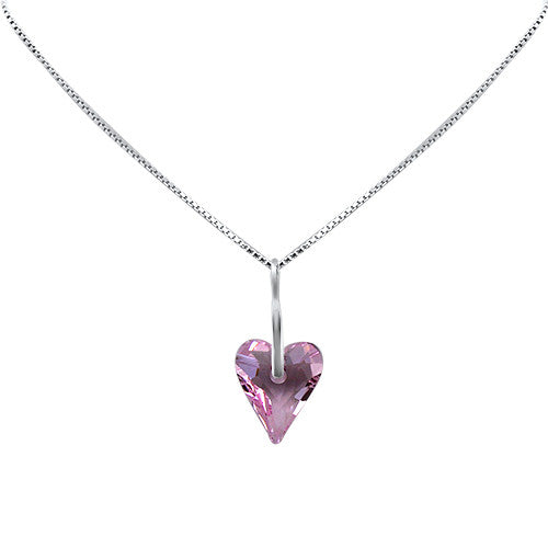 Wild About U Crystal  Heart Pendant
