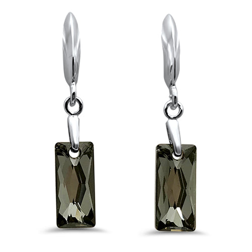 Queen Baguette Hookwire Earrings