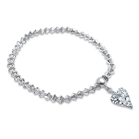 Wild About U Crystal Heart Bracelet