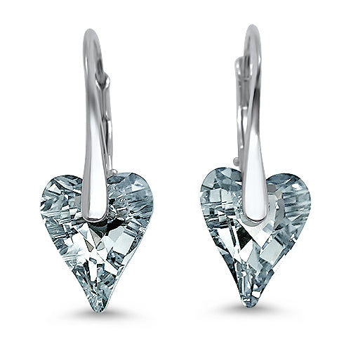 Wild About U Crystal Heart Earrings