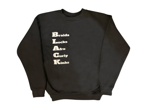 Black Hair History Kid Sweatshirt