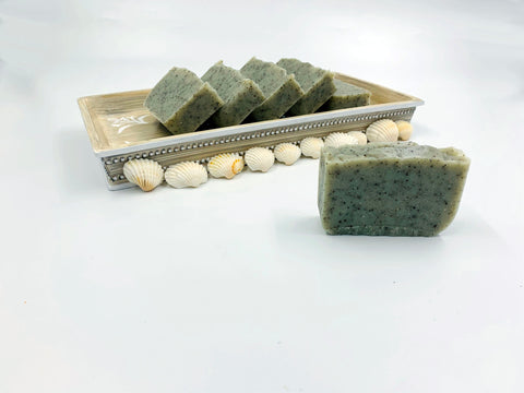 Green Clay, Peppermint and Kelp Soap