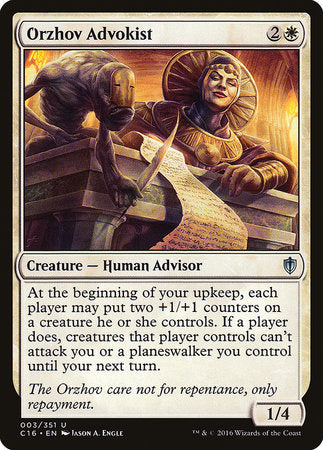 Orzhov Advokist [Commander 2016] | Boardwalk Games TX