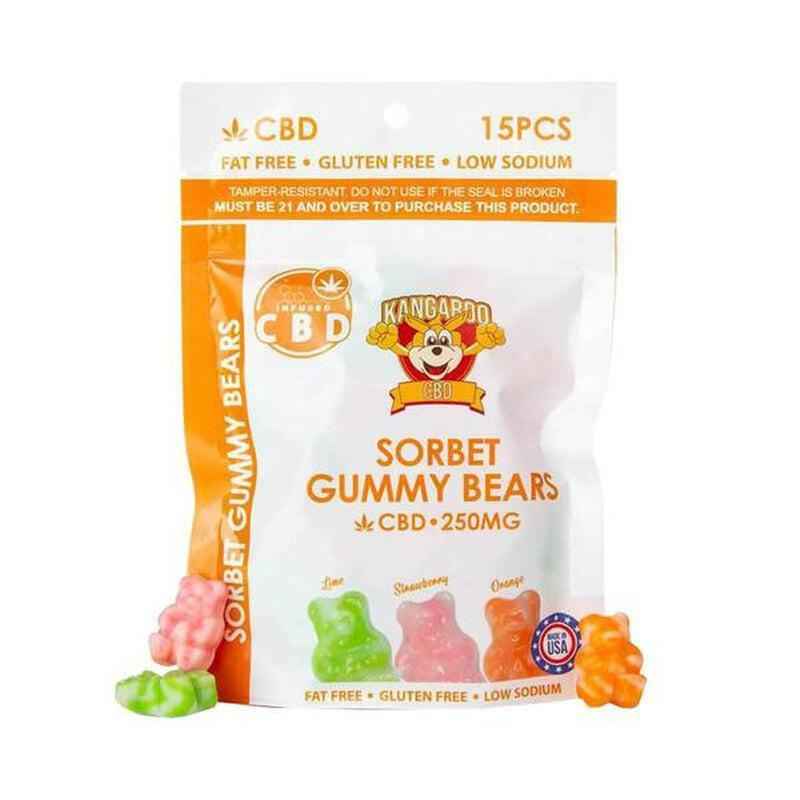Kangaroo CBD - CBD Edible - Sorbet Gummy Bears - 10mg