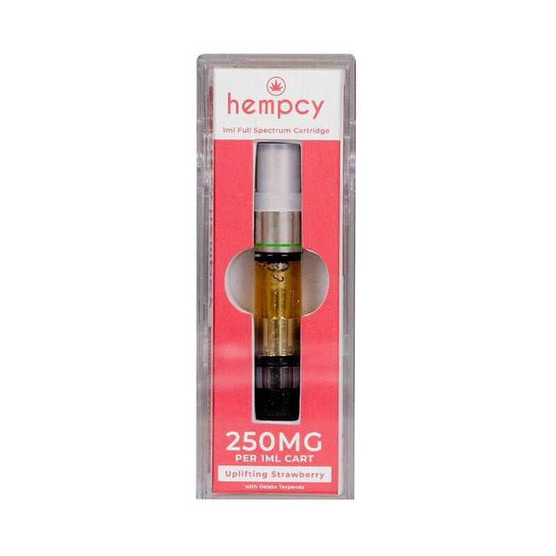 Hempcy - CBD Vape Cartridge - Uplifting Strawberry - 250mg-500mg