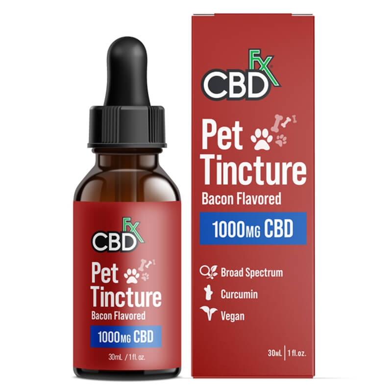 CBDfx - CBD Pet Tincture - Bacon Flavored for Large Breeds - 1000mg