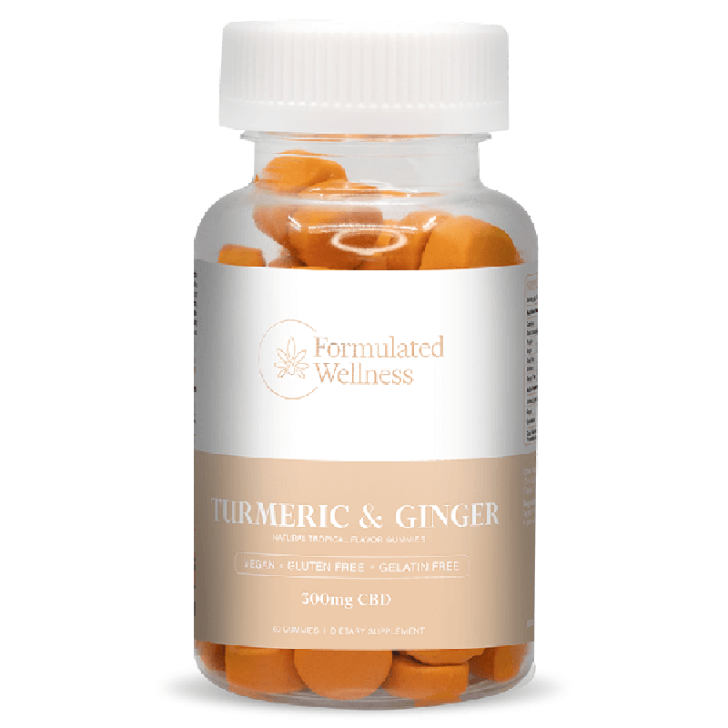 Formulated Wellness - CBD Edible - Gummies - Tumeric & Ginger - 5mg